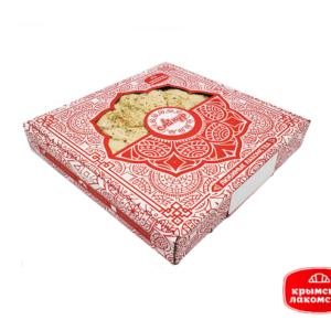 Купить Халва арахисовая ассорти в металлическом подносе (большая) Крымские Лакомства