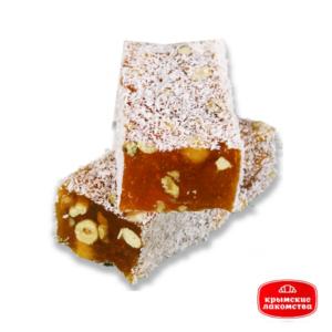 Рахат-лукум мини-брусок с орехами c ароматом апельсина Айнур