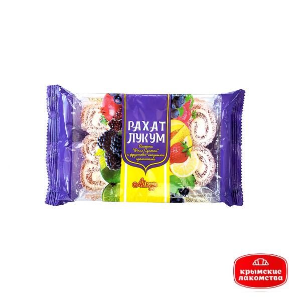 Рахат-лукум «Ассорти Ролл Султан с фруктово-ягодными ароматами» 250 г