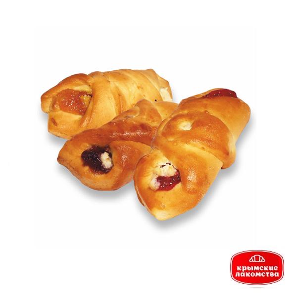Печенье сдобное «Сдобное» с творогом и вишнёвым джемом 450 г Айнур