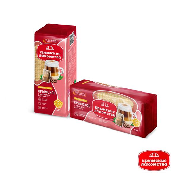 Печенье сахарное Крымское с ароматом капучино 430 г Айнур